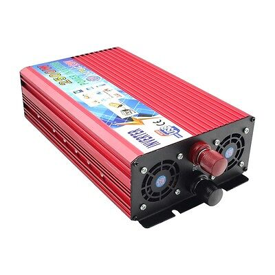 2500W Car DC 12V to AC 220V Power Inverter Charger Converter For Electronic