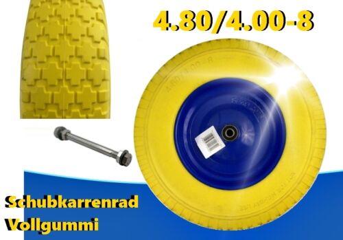 Schubkarrenrad en caoutchouc 4.80//4.00-8 gummirad pu roue 400