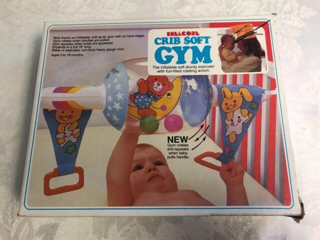 Shelcore Baby Gym Vintage Crib Toy Activity Soft Teddy Bear Bright