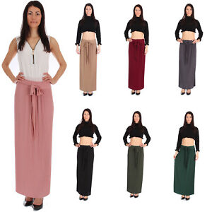 b596991205a Ladies Pleated Plaid Bodycon Maxi Skirt Plus Size Polyester Hi Waist ...
