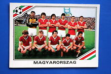 Panini WC MEXICO 86 STICKER N. 201 MAGYARORSZAG TEAM WITH BACK VERY GOOD/MINT