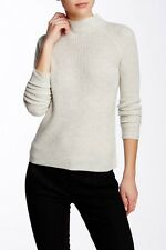 Vince 100 Cashmere Womens Mock Neck Directional Rib Sweater Ivory ...