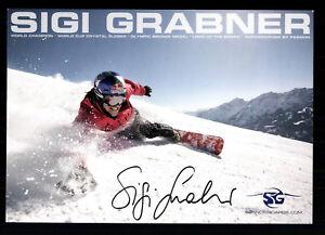 Sigi Grabner Autogrammkarte Original Signiert Skialpin + G 20190