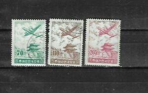 100% Vrai S. Korea Air Mail Sc # C20-c22. U Nh Og Vf.