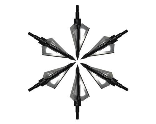 12pcs 100Grain 3 Fixed Blade Bowhunting Broadheads Screw-in Archery Hunting Head