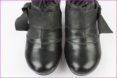 Zapatos Botas HISPANITAS Cuero Negro T 36 MUY BUEN ESTADO