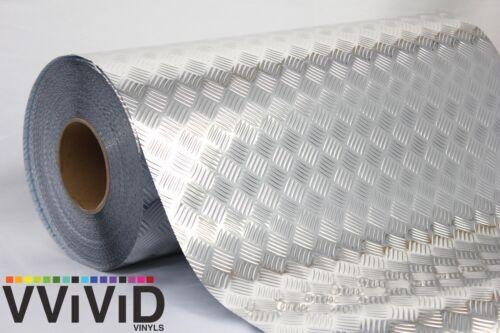 "Industrial Diamond Panel Chrome Metallic Vinyl Decal Film DIY Roll 17.8/"" x 6.5ft"