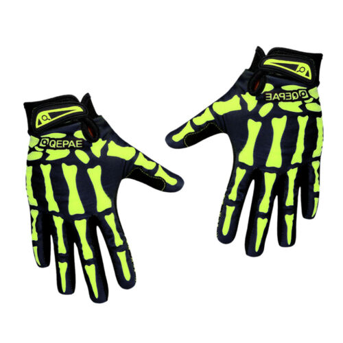 1 Pair Gel Cycling Gloves Non-slip Full Finger Mitts Motorcycle Bicycle Sport XL
