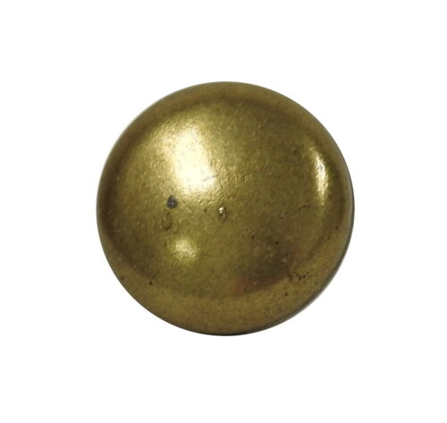 "1/"" Diameter Small Solid Vintage Style Cabinet Knob Lot of 20 Weathered Brass"