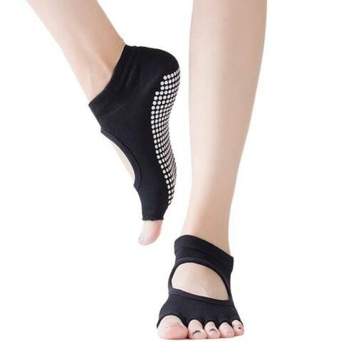 Yoga Socks Soft Pilates Barre Dance Ballet Non-Slip Toeless Half Toe Grip Socks