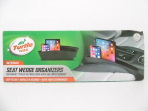 "Turtle Wax Interior In-Between Car Seat Wedge Organizers Black 2pk 15""x7"""