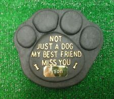Dog Large Pet Memorial/headstone/stone/grave marker/memorial paw with plaque 10