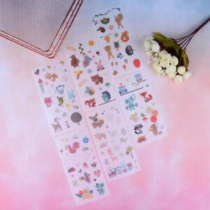 6-Sheets-cute-animals-paper-PVC-stickers-DIY-book-diary-scrapbooking-sticker-UK