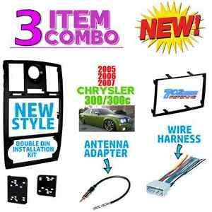 chrysler 300 car stereo radio double din dash kit harness rh ebay com