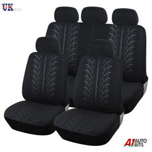 For-Nissan-Juke-Primera-Qashqai-Full-Black-Car-Seat-Cover-Set-Piping-Low-Back