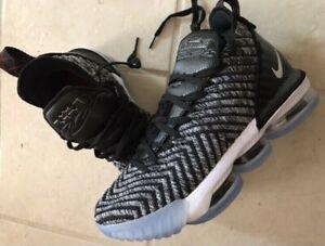 Nike Lebron XVI 16 Oreo Men Size 9 1/2