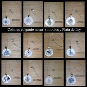 Collar-Colgante-Nacar-y-Plata-de-Ley-y-Cadena-Plata-motivos-y-Simbolos-a-escoger