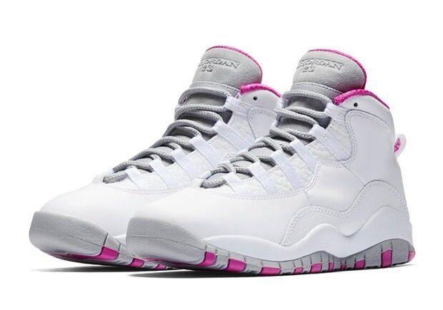 Nike air jordan retrò 10 maya moore rosa gg dimensioni aa2900-159 w / ricezione