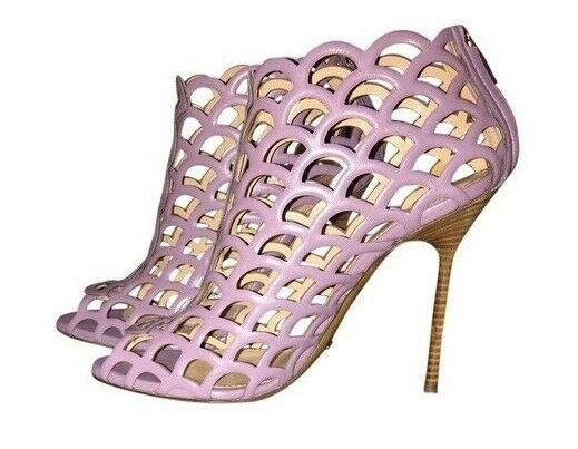 1050 New Sergio Rossi Mexico Lilac Blaush Sandals Stiefel Stiefelies lila schuhe 40