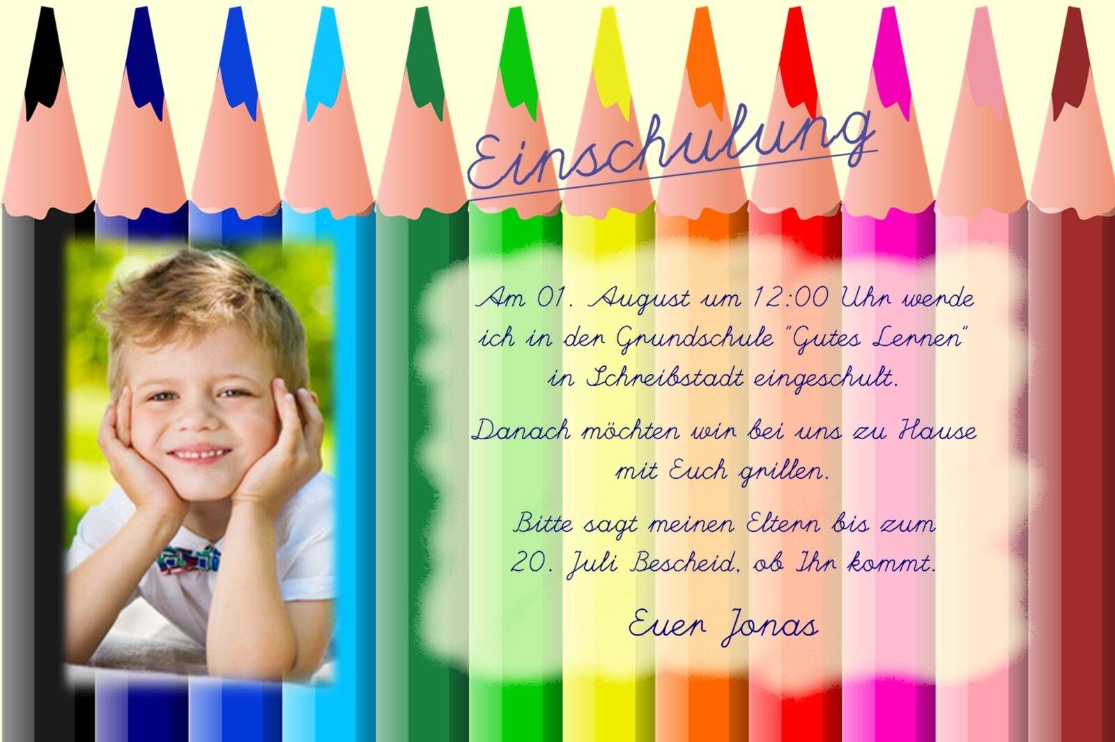 Einladung Danksagung Einschulung Schulanfang Karte individuell ein_07  | Verschiedene Arten Und Die Styles  | Angenehmes Aussehen