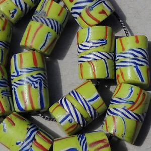 12-old-antique-venetian-fancy-beads-african-trade-1708