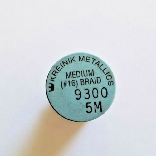 Kreinik Medium #16 Braid Purple 5 m You Choose Colors Polyester Metallic Spool