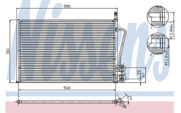 NISSENS Condensador, aire acondicionado FORD FIESTA MAZDA 2 VOLVO V40 94587