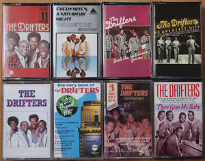 8x-THE-DRIFTERS-CASSETTE-TAPES-ALL-EXCELLENT-COND-R-amp-B-SOUL-DOO-WOP