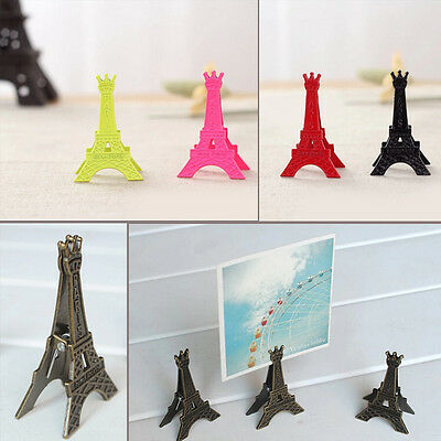 Eiffel Tower Decoration Photo Memo Clip Stand Display Holder Card Home