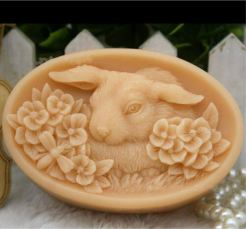 Crafted Soap Molds Rabbit Bunny Silicone Soap Mold Handmade Soap Candle Mold