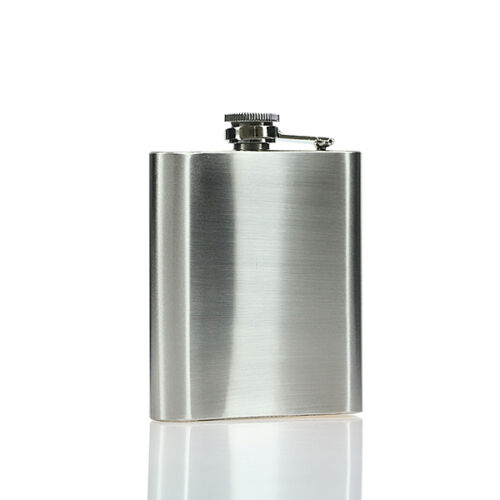 Stainless Steel Hip Flask Pocket Drink Whisky Liquor Cup Funnel Alcohol 1-18oz