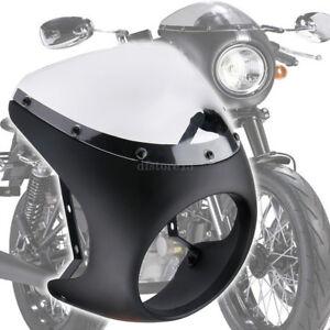 Universel-Moto-Cafe-Racer-7-034-phare-Carenage-Pare-Brise-Pour-Harley-Honda-Suzuki
