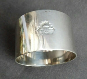 VINTAGE SILVER PLATED NAPKIN RING ORIENT STEAM NAVIGATION COMP. LTD ELKINGTON