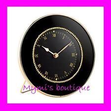"Alarm clock elegant ""Luxury"" black & golden by AVON - deco stones / strass - NEW"