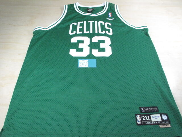 REEBOK HARDWOOD CLASSICS NBA BOSTON CELTICS LARRY BIRD 33 JERSEY XXL XX-LARGE