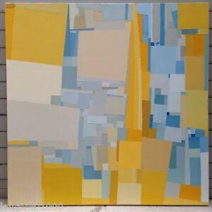 FOUGERAND-LAURENT-ARTISTE-PEINTRE-FRANCAIS-Huile-sur-toile-70-cm-x-70-cm