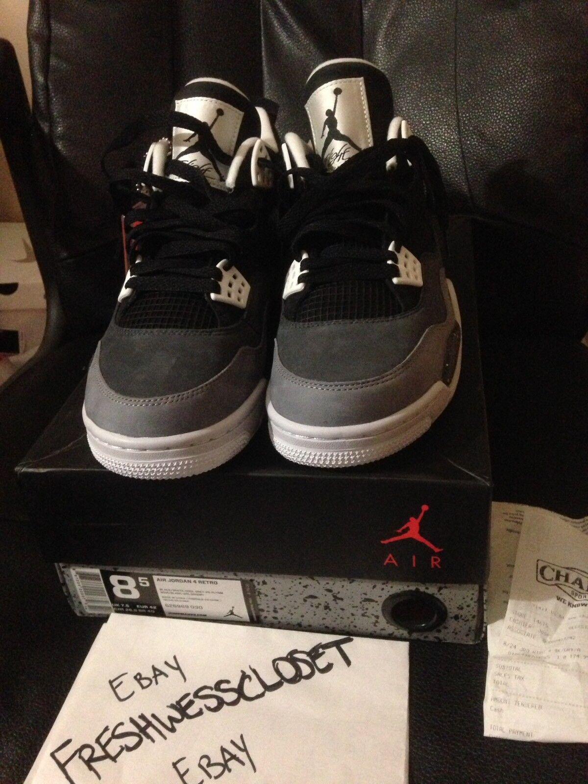 2018 DS Nike Air Jordan 4 Retro Fear 8.5 pack 11 1 5 6 7 8 3 bred chicago toro