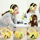 Woman Girls Thick Plush Face Lovely Expression Warm Earmuffs Winter Ear Cover XC