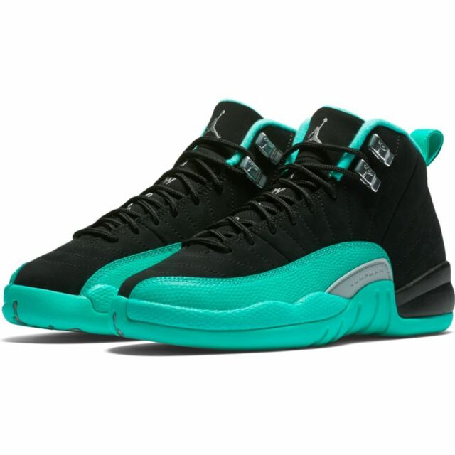 b7a15a08cc898f Size 7 Youth Nike Air Jordan 12 Retro GG Black hyper Jade 510815 017 ...