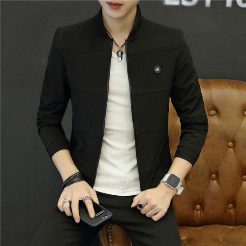 NEW Casual Solid Color Slim Fashion Baseball Jacket Men/'s coat Clothing  M-4XL