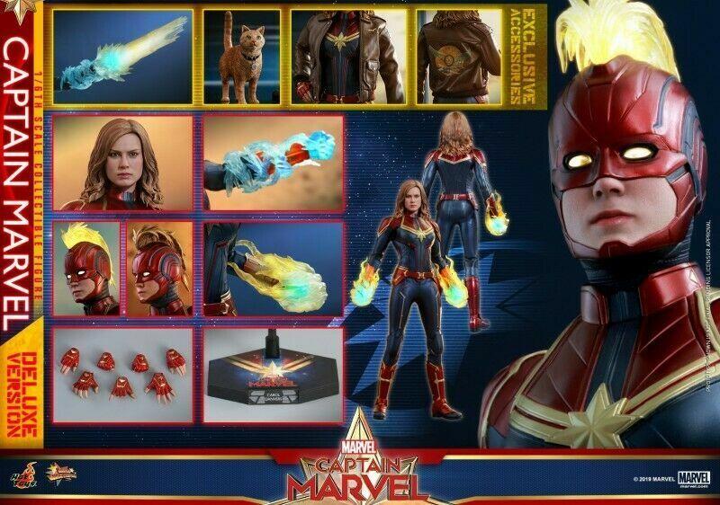 1 6 HotJuguete MMS522 Capitán Marvel Cocheol Danvers Brie Larson Figura Deluxe Ver.
