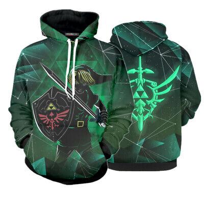 The Legend of Zelda Men/'s Hoodie Coat Sweatshirts Zipper Jacket Cosplay Costume