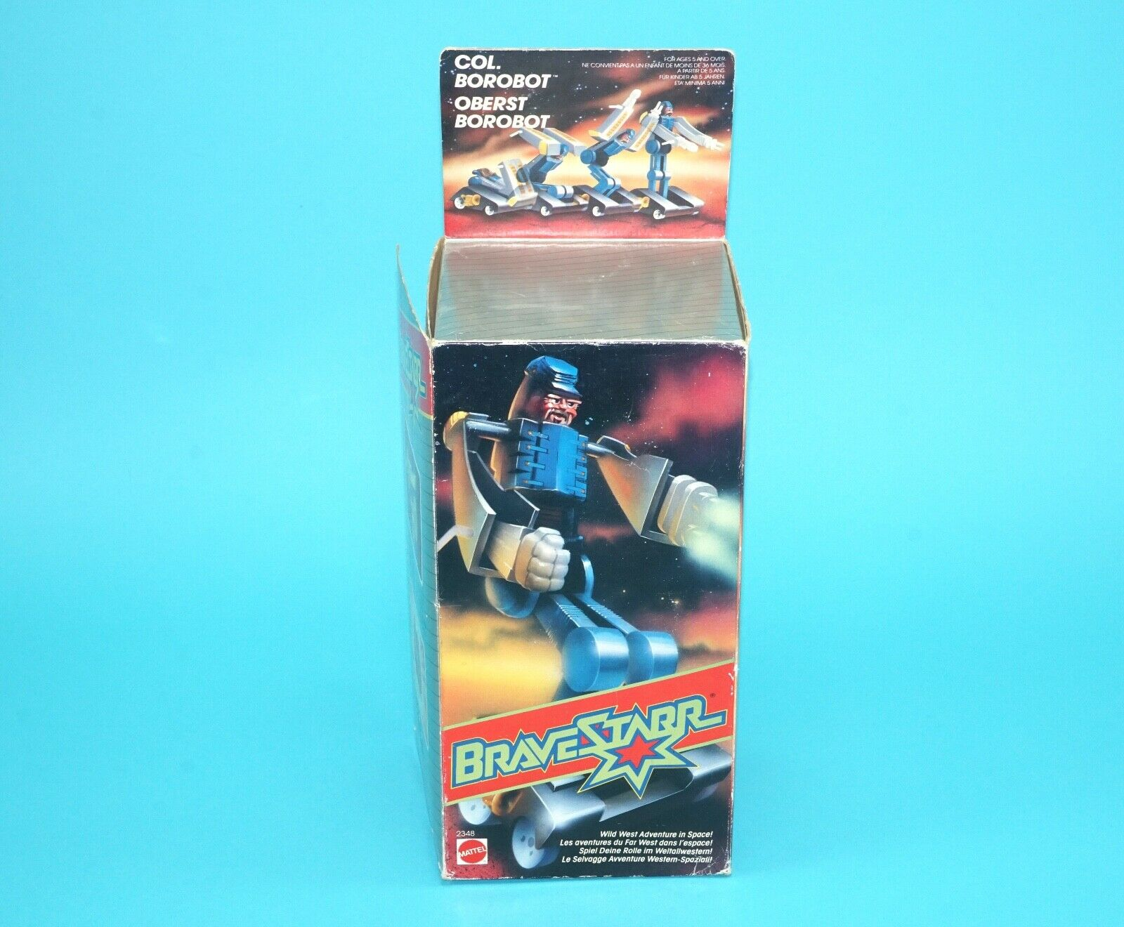 BRAVESTARR COLONEL BgoldBOT MIB SEALED CONTENTS EURO BOX 1986 MATTEL MOTU