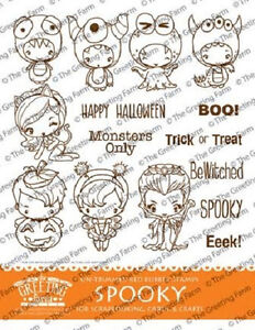 Spooky kit the greeting farm rubber stamp stamping craft halloween image is loading spooky kit the greeting farm rubber stamp stamping m4hsunfo