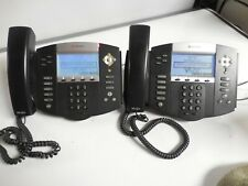 Polycom Soundpoint Ip550 Poe Backlit 4 Line Phone 2201 12550 001 Lot Of 2