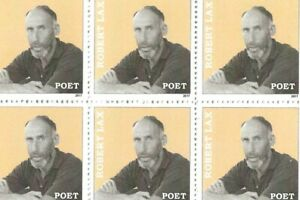 ROBERT-LAX-AMERICAN-POET-SET-OF-SIX-ROBERT-LAX-POET-PHOTO-STAMPS