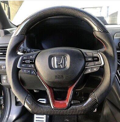 Honda Civic 2016 Interior >> Honda 2019 Civic, Accord CARBON FIBER STEERING WHEEL | eBay