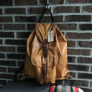 REEDERANG-VINTAGE-1960s-POLISH-MADE-DISTRESSED-BACKPACK-RUCKSACK-BAG-R-1198