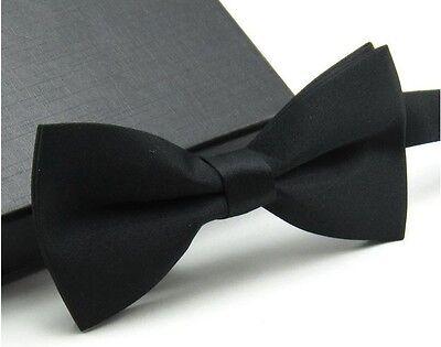 Men's Fashion Tuxedo Classic Solid Color Adjustable Wedding Party Bowtie Bow Tie