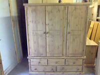Pine Furniture Ashbourne Special Limited Offer Triple 5 Drawer Robe No Flat Pack